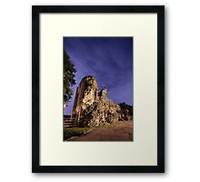 Knaresborough Castle Ruins overlooking the River Nidd Framed Print