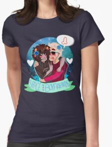 Space Boyfriends Sticker Womens Fitted T-Shirt