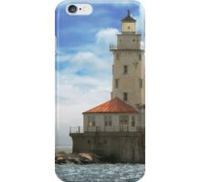 City - Chicago IL - Chicago harbor lighthouse iPhone Case/Skin