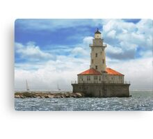 City - Chicago IL - Chicago harbor lighthouse Canvas Print