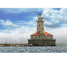 City - Chicago IL - Chicago harbor lighthouse Photographic Print