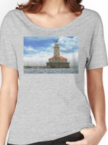 City - Chicago IL - Chicago harbor lighthouse Women's Relaxed Fit T-Shirt