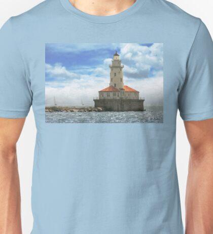 City - Chicago IL - Chicago harbor lighthouse Unisex T-Shirt