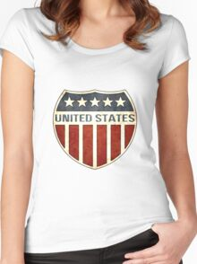 United States Shield Women's Fitted Scoop T-Shirt