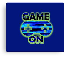 Game On Blue Gamer Canvas Print
