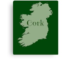 Cork Ireland with Map of Ireland Canvas Print