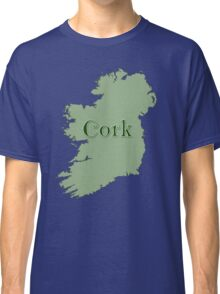 Cork Ireland with Map of Ireland Classic T-Shirt