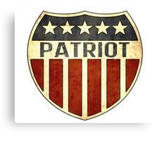 Patriot Shield Canvas Print