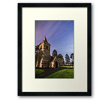 Church under the stars Framed Print