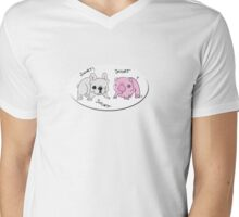 Snorting Twins Mens V-Neck T-Shirt