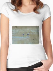 Brolga's Women's Fitted Scoop T-Shirt