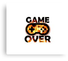 Game Over Flames Canvas Print