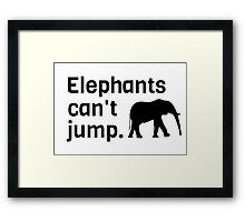 Afirca Animals Funny Cool Geek Framed Print