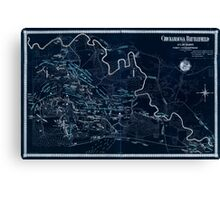 Civil War Maps 0274 Chickamauga Battlefield 02 Inverted Canvas Print
