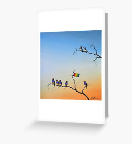 The Hippies Are Here Greeting Card