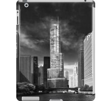 City - Chicago IL - Trump Tower BW iPad Case/Skin