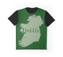 Dublin Ireland with Map of Ireland Graphic T-Shirt