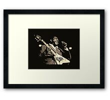 He'll Play The Blues For You! Framed Print