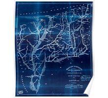 Civil War Maps 1109 Marion District South Carolina Inverted Poster