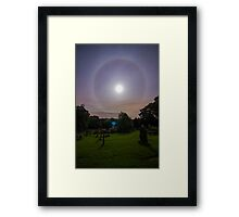 Full Moon Halo St Mary's Church Newchurch in Pendle  Framed Print