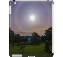 Full Moon Halo St Mary's Church Newchurch in Pendle  iPad Case/Skin