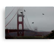 Birds over Golden Gate Canvas Print