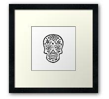 Black and White Sugar Skull Framed Print