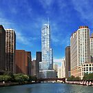 City - Chicago IL - Trump Tower  by Mike  Savad