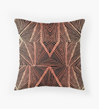 Angles and Triangles in Rust Throw Pillow