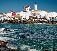 Nubble Lighthouse - Cape Neddick - Maine by TonyCrehan