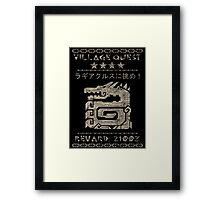 Monster Hunter Required - Lagiacrus Framed Print