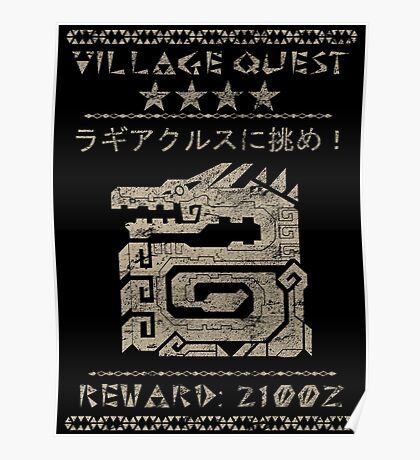 Monster Hunter Required - Lagiacrus Poster