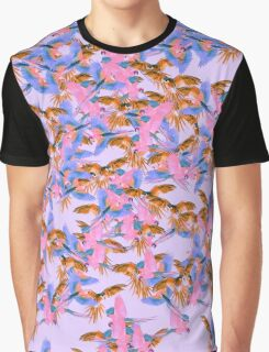 Pink Parrot Graphic T-Shirt
