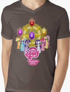 Mane 6 Elements Logo Mens V-Neck T-Shirt