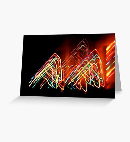Suburb Christmas Light Series - 80s Funk Greeting Card