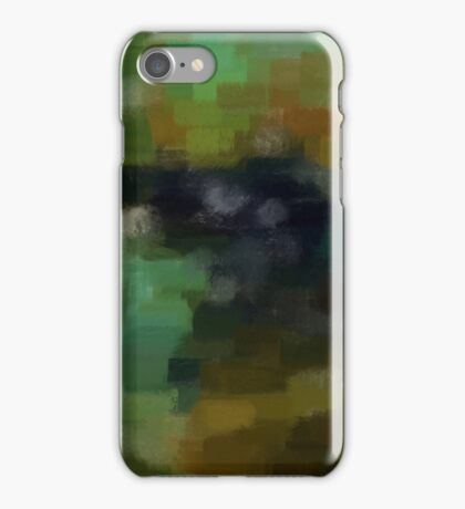 Abstract Nature Landscape Green iPhone Case/Skin