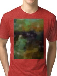 Abstract Nature Landscape Green Tri-blend T-Shirt