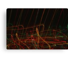 Suburb Christmas Light Series - Xmas Reach Canvas Print