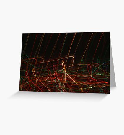 Suburb Christmas Light Series - Xmas Reach Greeting Card