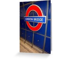 london bridge station Greeting Card