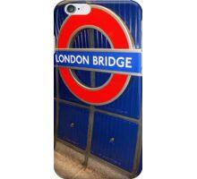 london bridge station iPhone Case/Skin