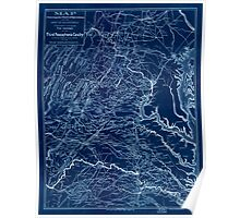Civil War Maps 0603 Map covering the field of operations of the Army of the Potomac Inverted Poster