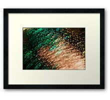 Suburb Christmas Light Series - Xmas Emerald Framed Print