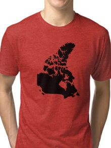 Map of Canada Tri-blend T-Shirt