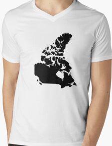 Map of Canada Mens V-Neck T-Shirt