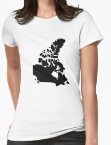 Map of Canada Womens Fitted T-Shirt