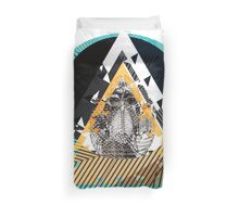 Skull Island :: 2 (Blue and Orange) Duvet Cover