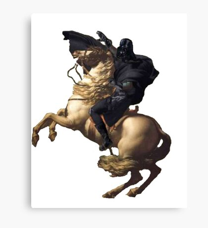 Darth vader riding a horse Canvas Print