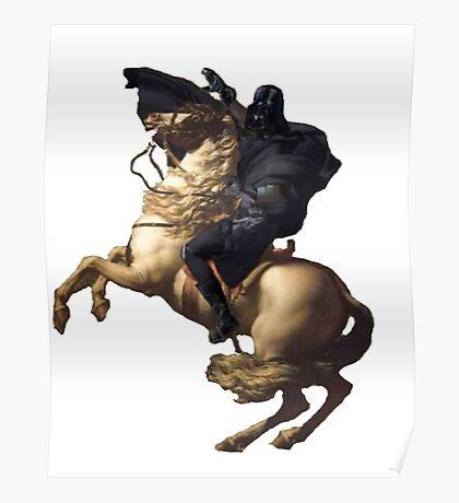Darth vader riding a horse Poster