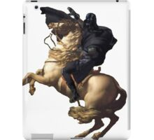Darth vader riding a horse iPad Case/Skin